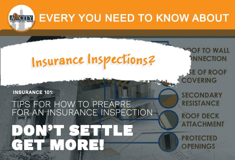 Insurance inspector expectations