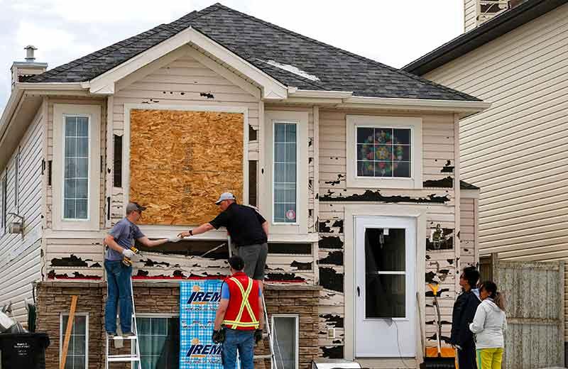 Hail Damage Insurance Claim Home Damage