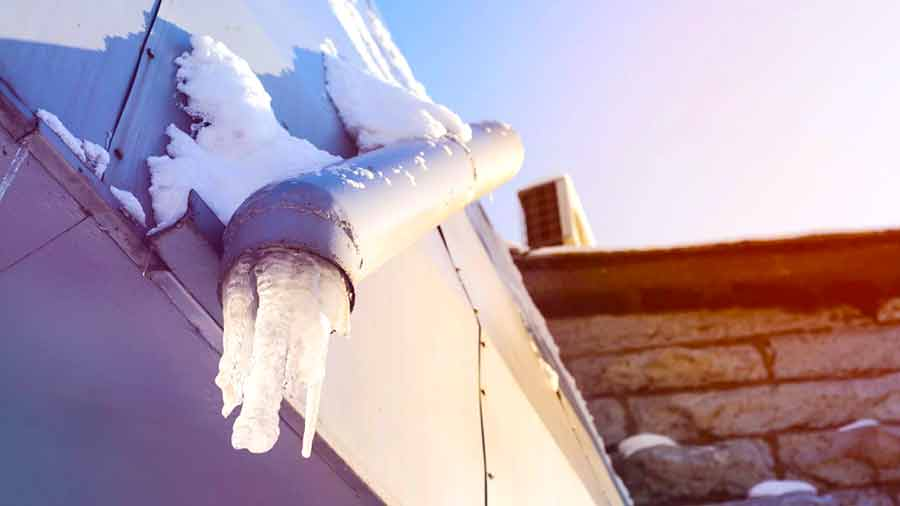 Winter water damage frozen pipes