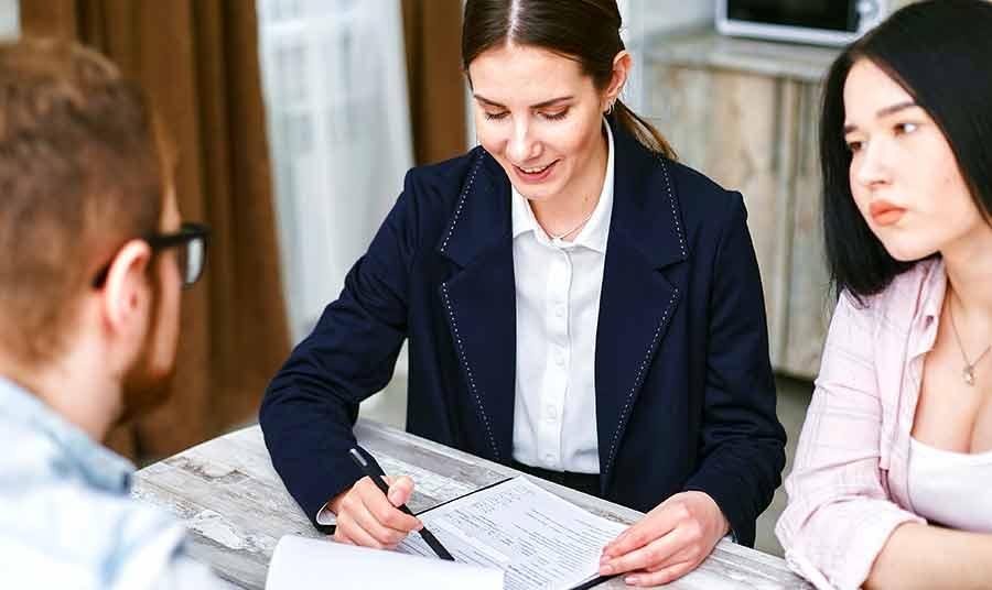 Filing an Insurance Claim Lady Filing
