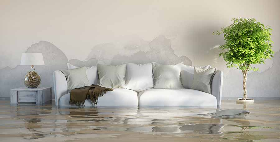How to Make a Successful Water Leak Insurance Claim Flooded Living Room